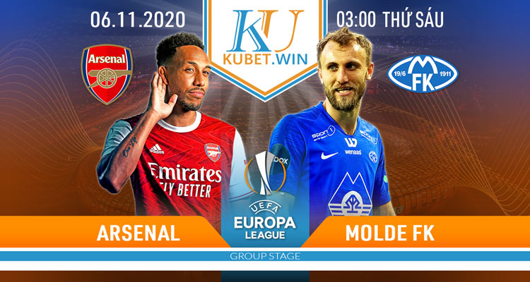 soi kèo Arsenal vs Molde 6/11/2020 3h00 - C1