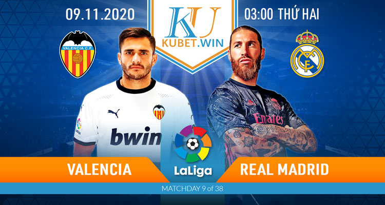 soi kèo Valencia vs Real Madrid ngày 9/11/2020 - 3h00