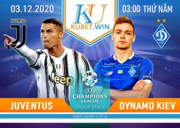 soi kèo Juventus vs Dynamo 3/12/2020 - champion league